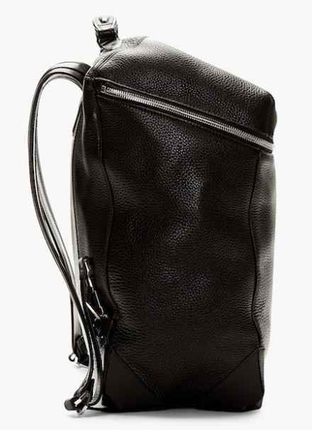 Alexander Wang Black Pebbled Leather Wallie Back Pack