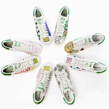 adidas Stan Smiths customized by Pharrell Williams