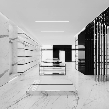 Saint Laurent Milan Store Designed by Hedi Slimane