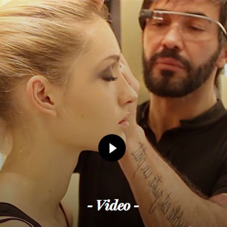 Yves Saint Laurent Beauty tries on Google Glass