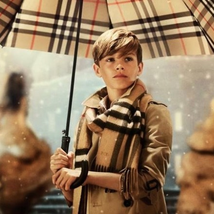 Burberry Festive Holiday film with Romeo Beckham
