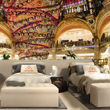 Night at The Galeries Lafayette in Paris