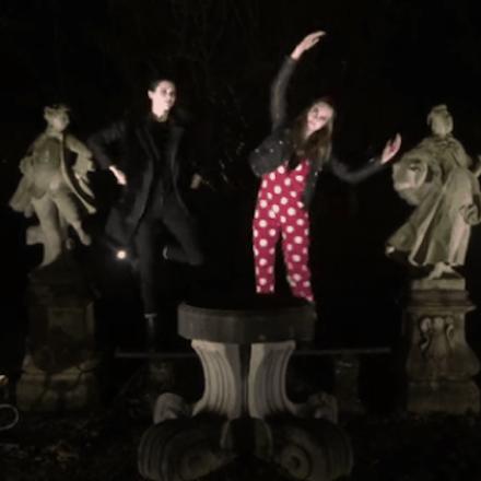 Kendall & Cara make a christmas video for LOVE magazine
