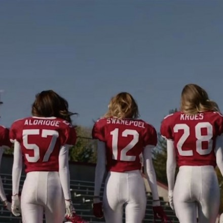 Victoria's Secret Angels Play Football