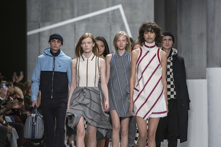 Models present creations at the Lacoste Fall/Winter 2015 collection during New York Fashion Week