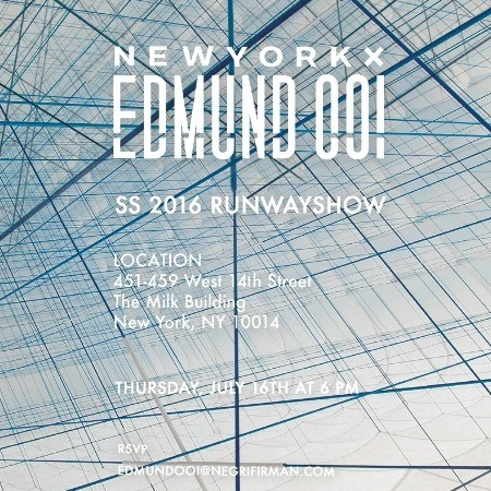NY Fashion Week: Men SS16 – Edmund Ooi