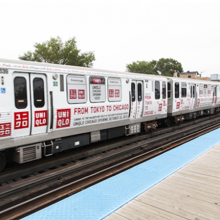 Uniqlo Chicago Train Takeover