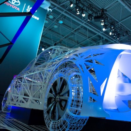 Wire Art Display for Toyota Prius Prime