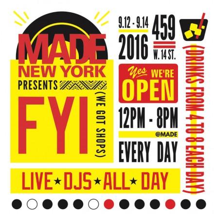 NY Fashion Week SS17 – MADE FYI