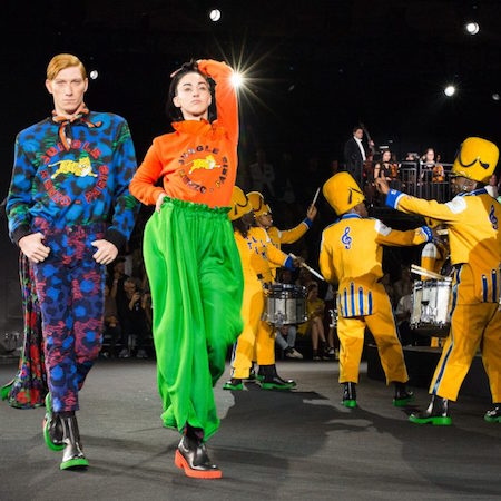 KENZO x H&M fashion show celebration directed by Jean-Paul Goude