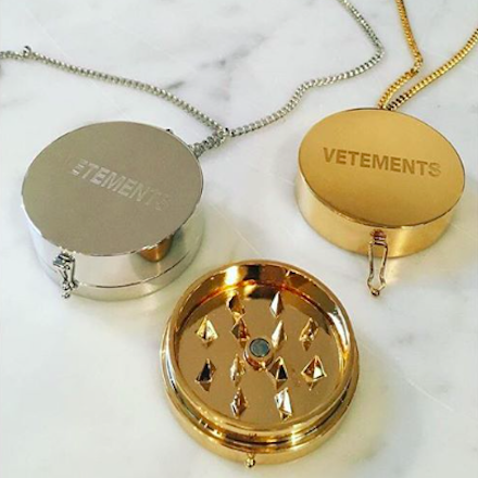 Vetements weed grinder pendant