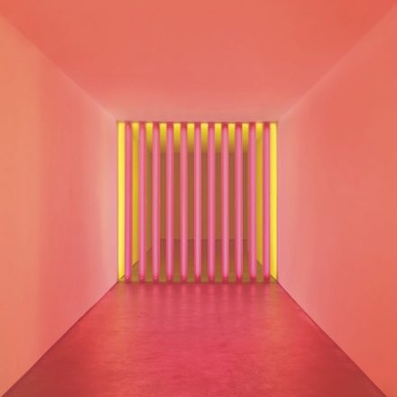 Calvin Klein Collection displaying Dan Flavin's works
