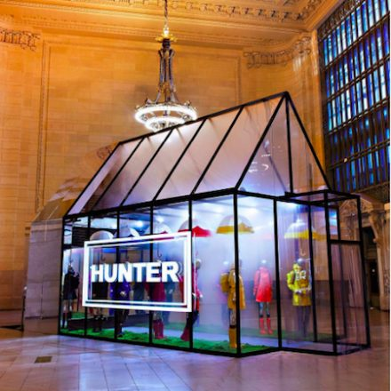 Hunter Boots Popup at Grand Central Terminal