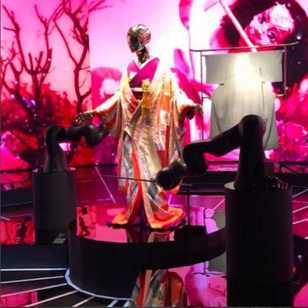 Kimono Roboto exhibition in Tokyo, designed by Bureau Betak
