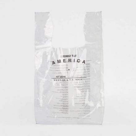 Raf Simons' $200 USD Transparent Shopping Bag