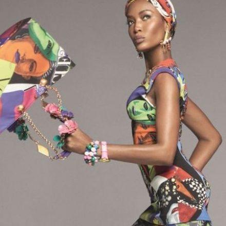 Super Models Front Versace Spring 2018 campaign
