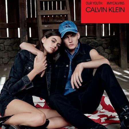 Kaia and Presley Gerber for Calvin Klein Spring 2018 Campaign