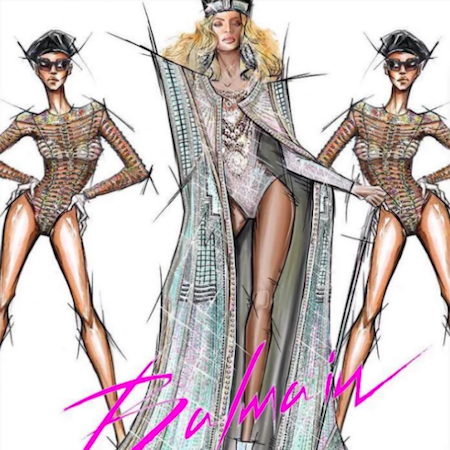 Olivier Rousteing Dresses Beyoncé in Balmain for Coachella 2018