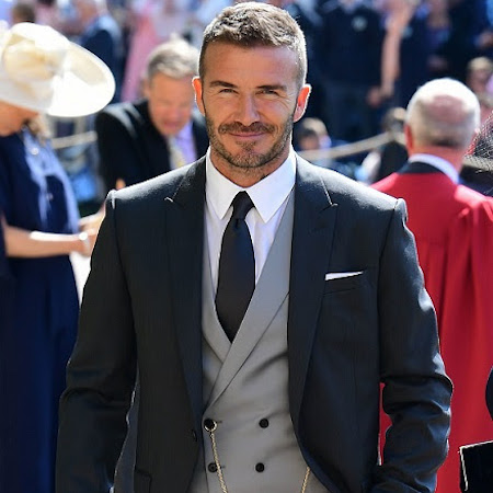 David Beckham debuts Dior Hommes by Kim Jones