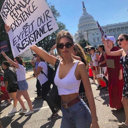 Emily Ratajkowski was arrested during Brett Kavanaugh Protest