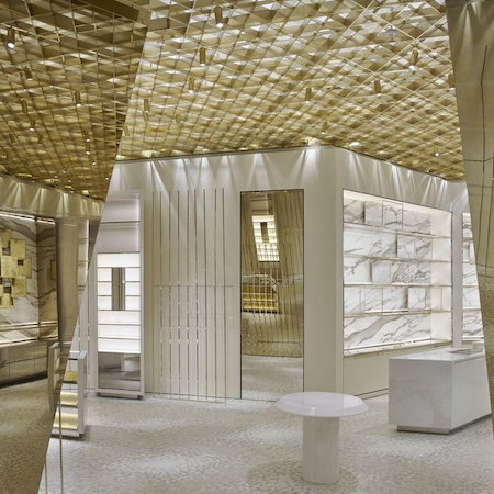 new Versace boutique designed with the highest sustainability standards
