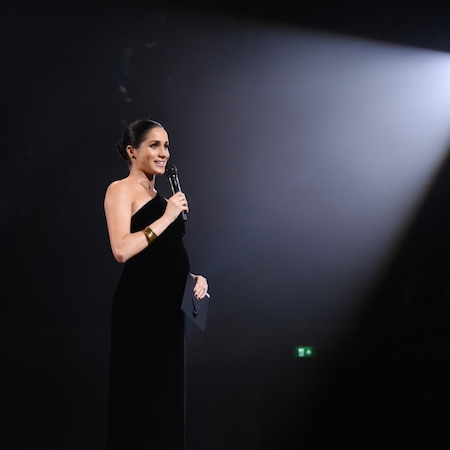 BRITISH FASHION AWARDS with Duchess of Sussex's Surprise appearance