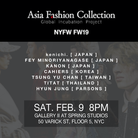 Asia Fashion Collection(AFC) to make 6th annual NYFW Runway show!