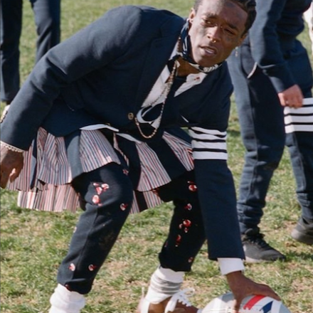 Thom Browne annual Thanksgiving Football