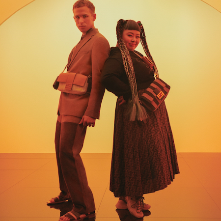Naomi and Tommy for Fendi Baguette Friends Forever