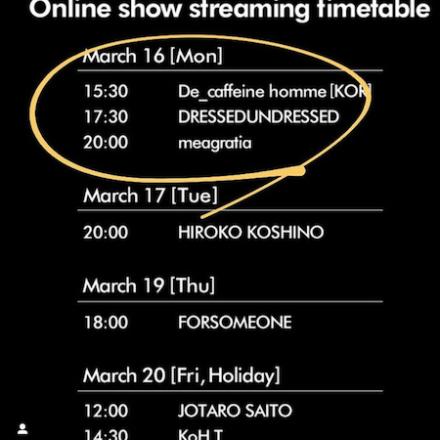 FWT FW20 online show schedule