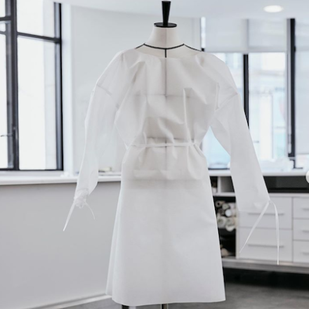 Louis Vuitton produces hospital gowns