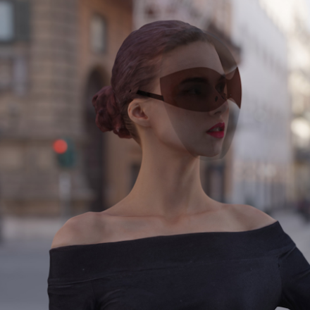 face shield to be a fashion accessory