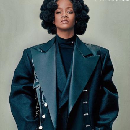 Rihanna wearing Raf Simons