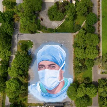 20,000-square-foot mural by Jorge Rodríguez-Gerada