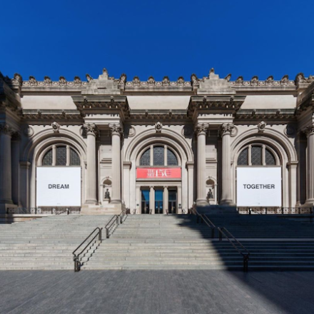 The Met to reopen with the banner by Yoko Ono