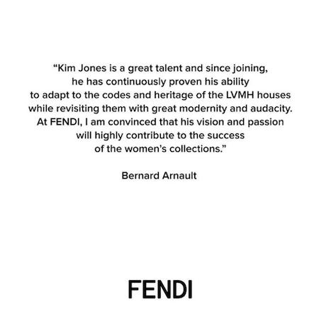 Kim Jones for FENDI