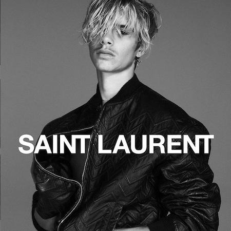 Romeo Beckham for Saint Laurent Campaign