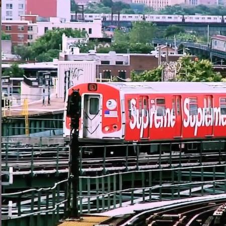 Supreme NYC Subway train